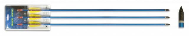 Set 3 flechas aluminio 30″