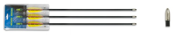 Set 3 flechas fibra 26″
