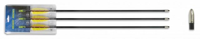 Set 3 flechas fibra 28 Pulgadas