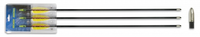 Set 3 flechas fibra 30″