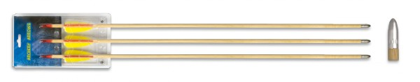 Set 3 flechas madera 30″