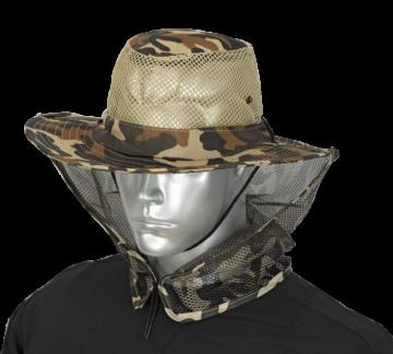 Sombrero con rejilla camo marron 1