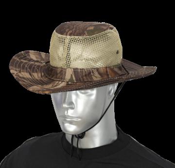Sombrero con rejilla camo marron