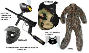 equipo completo paintball